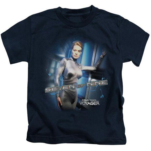Star Trek Seven Of Nine Short Sleeve Juvenile Navy T-Shirt