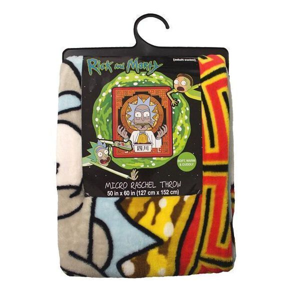 Rick & Morty Schezwan Sauce Throw Blanket