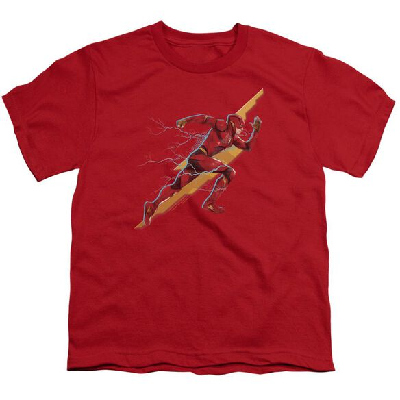 Justice League Movie Flash Forward Short Sleeve Youth T-Shirt