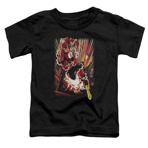 Jla Street Speed Short Sleeve Toddler Tee Black Sm T-Shirt