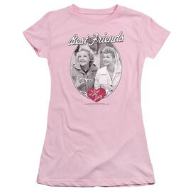 I Love Lucy Best Friends Short Sleeve Junior Sheer T-Shirt