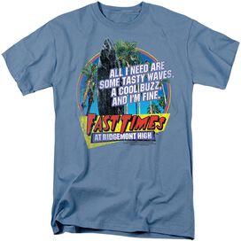 FAST TIMES RIDGEMONT HIGH TASTY WAVES - S/S ADULT 18/1 - CAROLINA BLUE T-Shirt