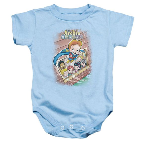 Archie Babies Rainy Day Hero Infant Snapsuit Light Blue Xl