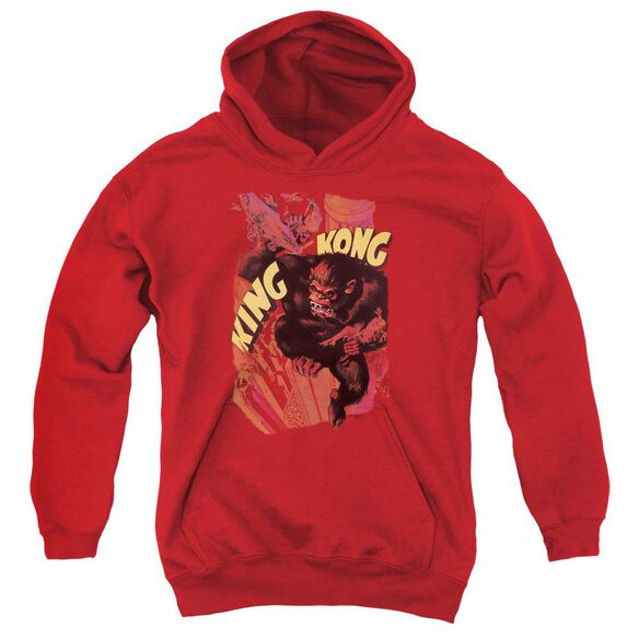 King Kong Plane Grab Youth Pull Over Hoodie