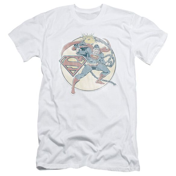 Dco Retro Superman Iron On Short Sleeve Adult T-Shirt