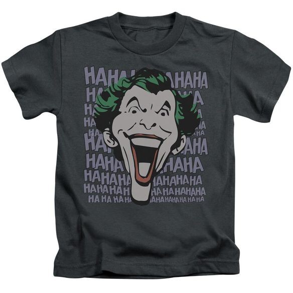Dc Dastardly Merriment Short Sleeve Juvenile Charcoal T-Shirt