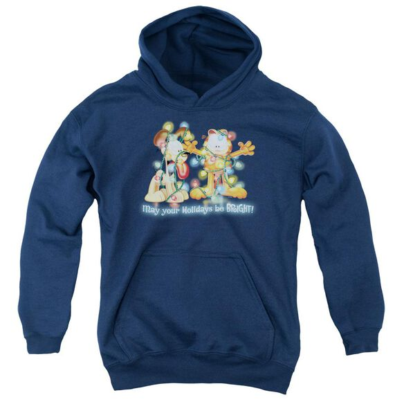 Garfield Bright Holidays Youth Pull Over Hoodie