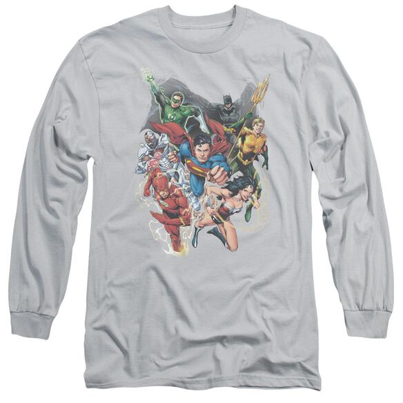 Jla Refuse To Give Up Long Sleeve Adult T-Shirt