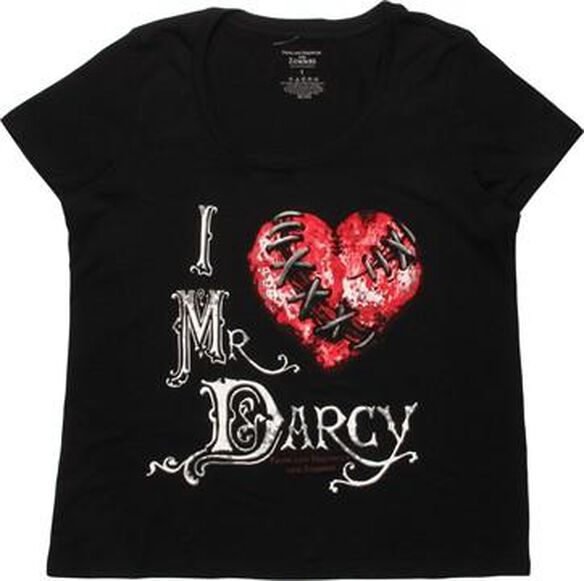 Pride Prejudice Zombies Heart Darcy Ladies T-Shirt