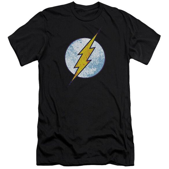 Dc Flash Flash Neon Distress Logo Short Sleeve Adult T-Shirt