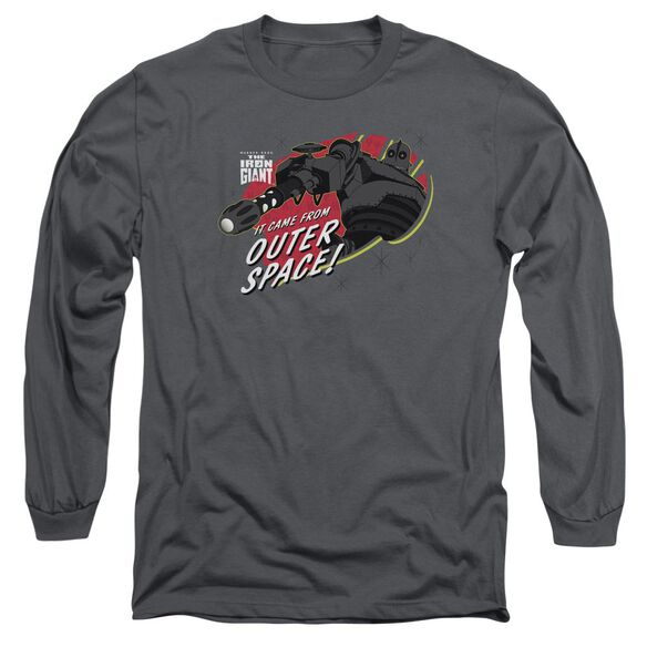 Iron Giant Outer Space Long Sleeve Adult T-Shirt