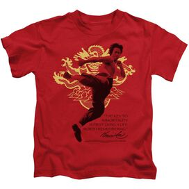 BRUCE LEE IMMORTAL DRAGON - S/S JUVENILE 18/1 - RED - T-Shirt
