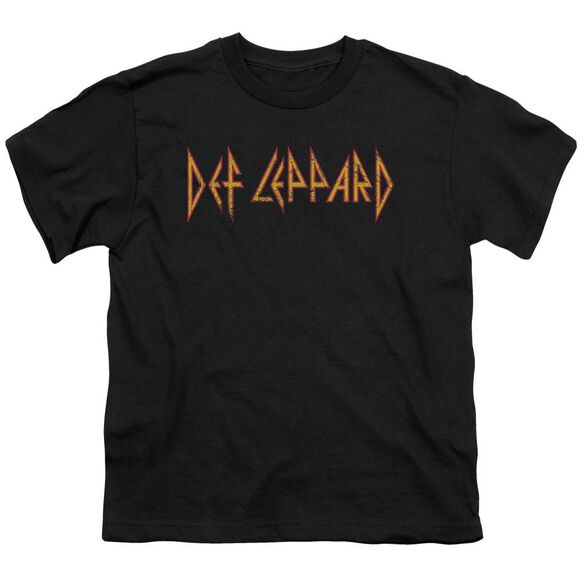 Def Leppard Horizontal Logo Short Sleeve Youth T-Shirt