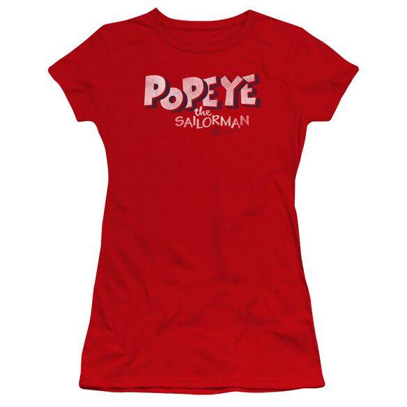 Popeye 3 D Logo Premium Bella Junior Sheer Jersey