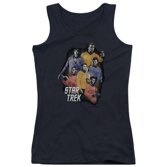 Star Trek Galaxy Glow Juniors Tank Top