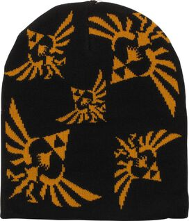 Zelda Skyward Sword Gold Crest Black Beanie