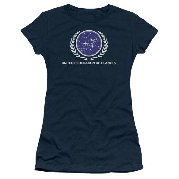 Star Trek United Federation Logo Short Sleeve Junior Sheer T-Shirt