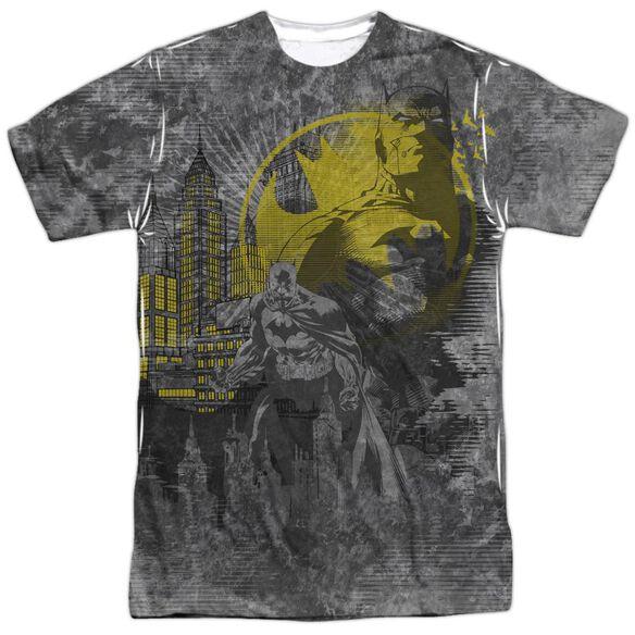Batman Dark City Short Sleeve Adult 100% Poly Crew T-Shirt