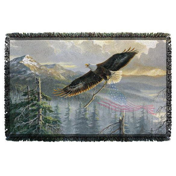 Wild Wings Rebuilding America 2 Woven Throw