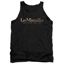Les Miserables Logo - Adult Tank - Black