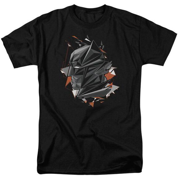 Batman V Superman Bat Head Tech Short Sleeve Adult Black T-Shirt