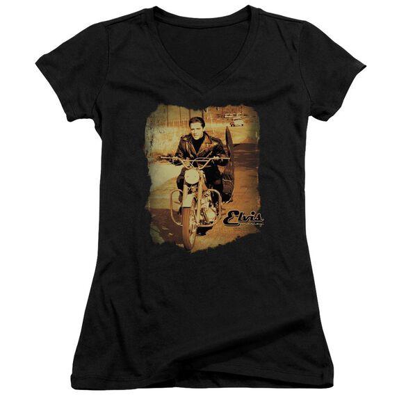 Elvis Hit The Road Junior V Neck T-Shirt