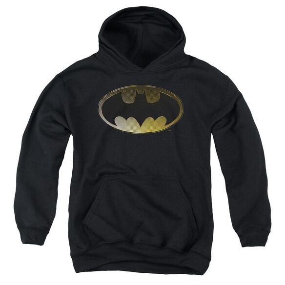 Batman Halftone Bat Youth Pull Over Hoodie