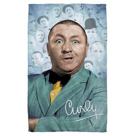 Three Stooges Curly Heads Towel