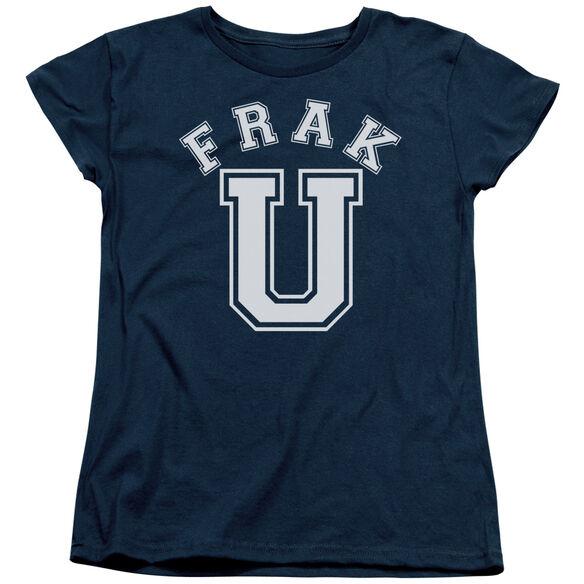 BSG FRAK U - S/S WOMENS TEE - NAVY T-Shirt
