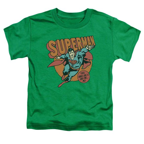 Dc Job For Me Short Sleeve Toddler Tee Kelly Green T-Shirt