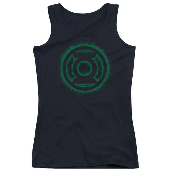Green Lantern Green Flame Logo Juniors Tank Top