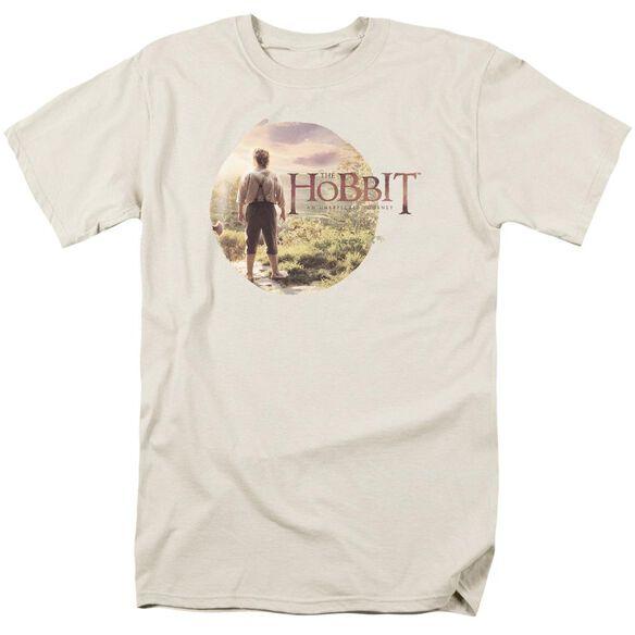 The Hobbit Hobbit In Circle Short Sleeve Adult Cream T-Shirt