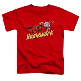My Sister Ate My Homework Short Sleeve Toddler Tee Red Md T-Shirt