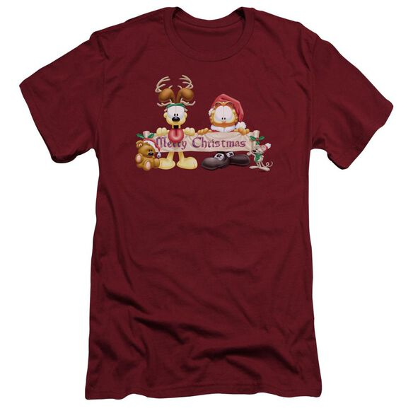 Garfield Christmas Banner Short Sleeve Adult T-Shirt