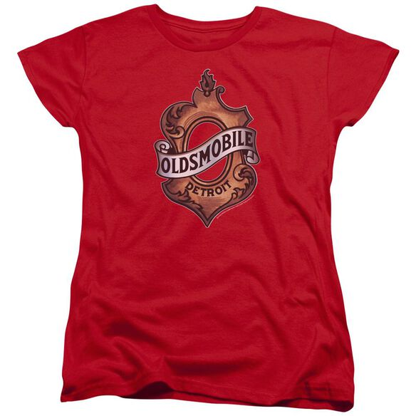Oldsmobile Detroit Emblem Short Sleeve Womens Tee T-Shirt