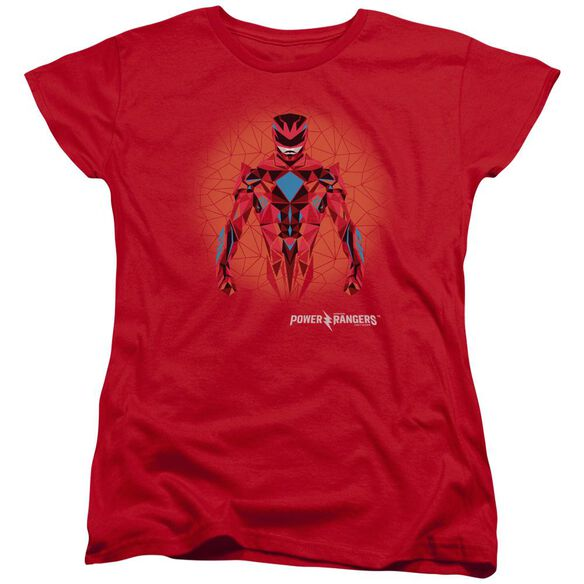 Power Rangers Power Ranger Graphic Short Sleeve Womens Tee T-Shirt