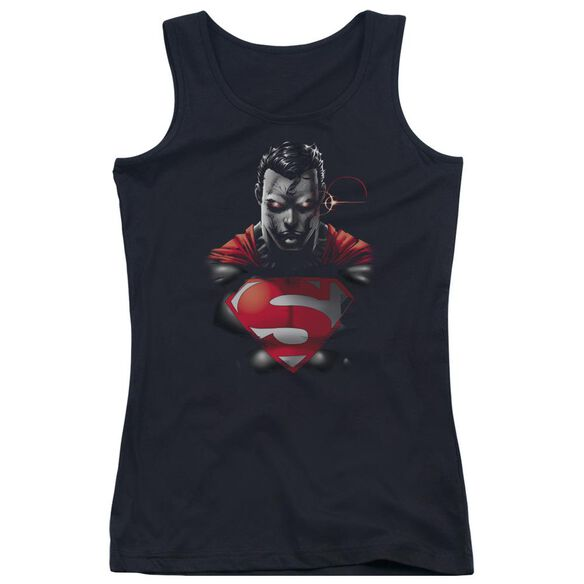 Superman Heat Vision Charged Juniors Tank Top