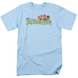 Fraggle Rock Leaf Logo Short Sleeve Adult Light Blue T-Shirt