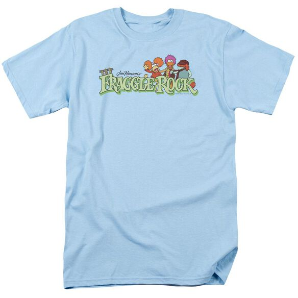 Fraggle Rock Leaf Logo Short Sleeve Adult Light Blue T-Shirt