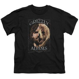 Grizzly Adams Half Bear Short Sleeve Youth T-Shirt