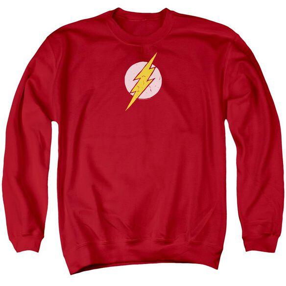 Jla Rough Flash Adult Crewneck Sweatshirt