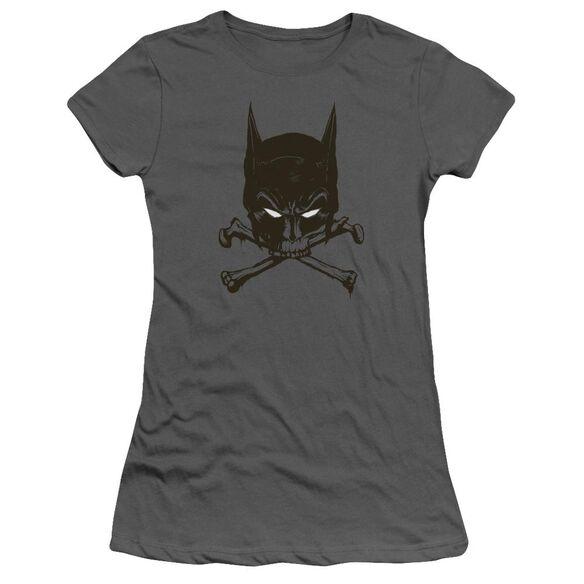 BATMAN BAT AND BONES - S/S JUNIOR SHEER - CHARCOAL T-Shirt