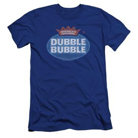 Dubble Bubble Vintage Logo Premuim Canvas Adult Slim Fit Royal