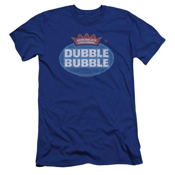 Dubble Bubble Vintage Logo Premuim Canvas Adult Slim Fit Royal
