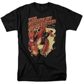 Jla Scarlet Speedster Short Sleeve Adult T-Shirt