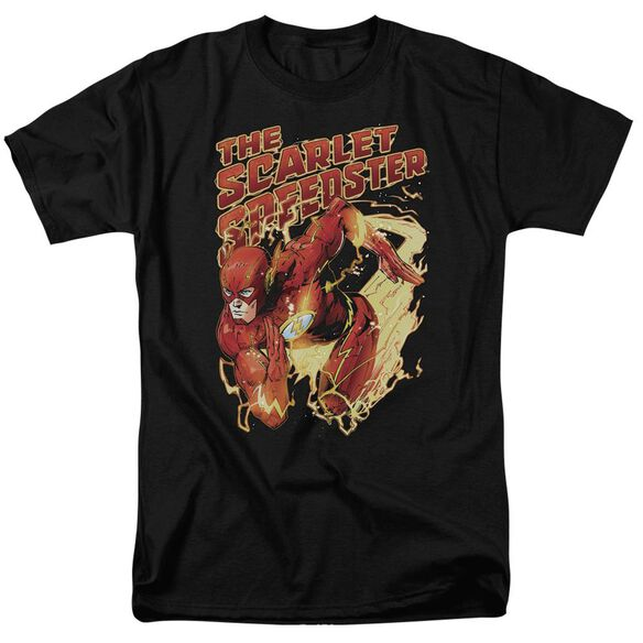 Jla Scarlet Speedster Short Sleeve Adult T-Shirt