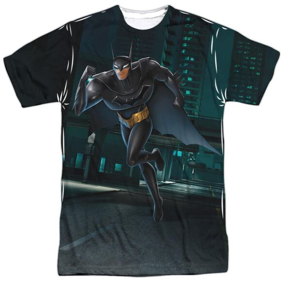 Beware The Batman Run Short Sleeve Adult Poly Crew T-Shirt