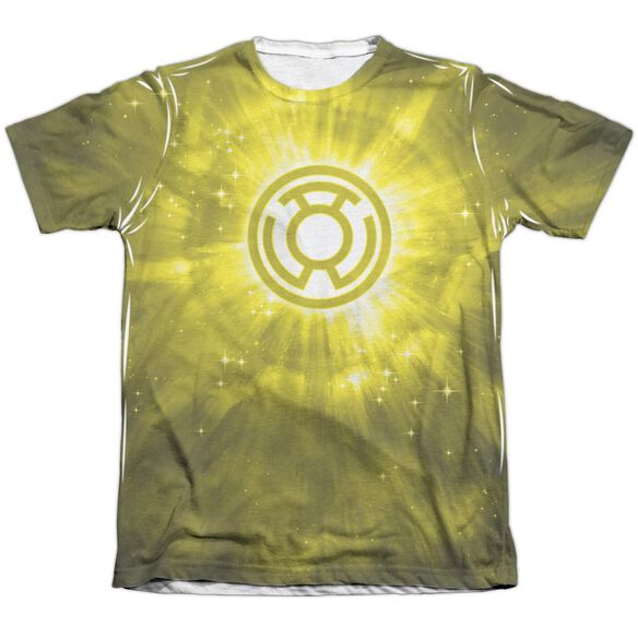 Green Lantern Yellow Energy Adult 65 35 Poly Cotton Short Sleeve Tee T-Shirt