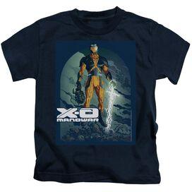 Xo Manowar Planet Death Short Sleeve Juvenile Navy T-Shirt