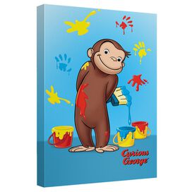 Curious George Paint Canvas Wall Art With Back Board